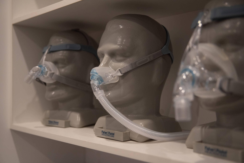CPAP machine on manikin head